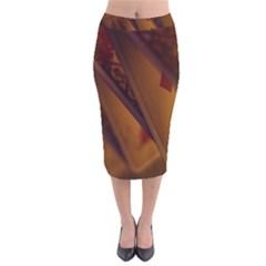 Card Game Mood The Tarot Velvet Midi Pencil Skirt