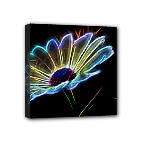 Flower Pattern Design Abstract Background Mini Canvas 4  X 4