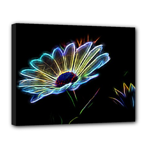 Flower Pattern Design Abstract Background Canvas 14  X 11