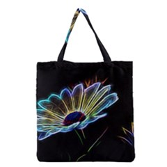 Flower Pattern Design Abstract Background Grocery Tote Bag