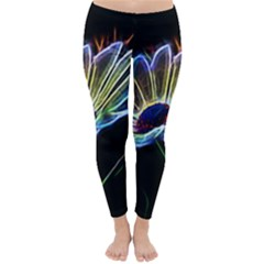Flower Pattern Design Abstract Background Classic Winter Leggings