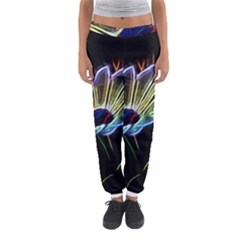 Flower Pattern Design Abstract Background Women s Jogger Sweatpants
