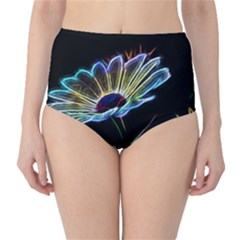 Flower Pattern Design Abstract Background High Waist Bikini Bottoms