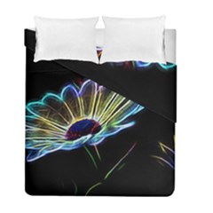 Flower Pattern Design Abstract Background Duvet Cover Double Side (full/ Double Size)