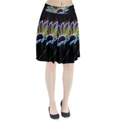 Flower Pattern Design Abstract Background Pleated Skirt