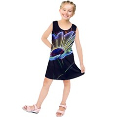 Flower Pattern Design Abstract Background Kids  Tunic Dress