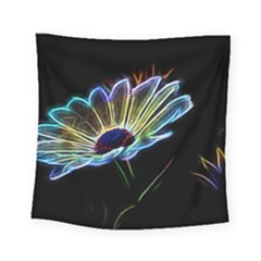 Flower Pattern Design Abstract Background Square Tapestry (small)
