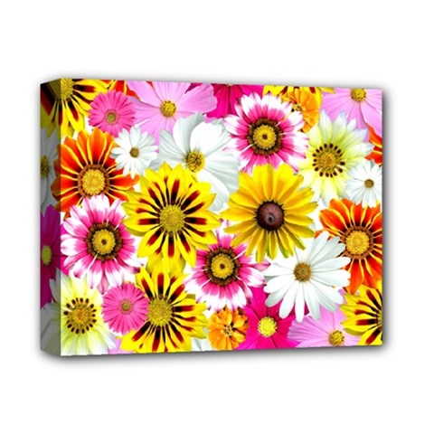 Flowers Blossom Bloom Nature Plant Deluxe Canvas 14  x 11