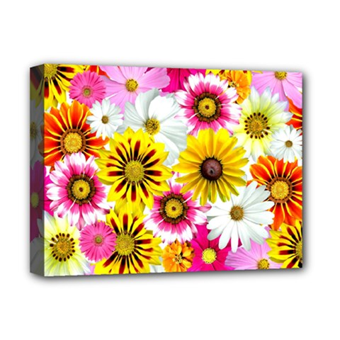 Flowers Blossom Bloom Nature Plant Deluxe Canvas 16  X 12