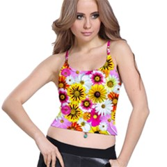 Flowers Blossom Bloom Nature Plant Spaghetti Strap Bra Top