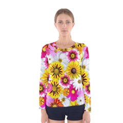 Flowers Blossom Bloom Nature Plant Women s Long Sleeve Tee