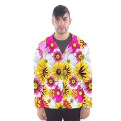 Flowers Blossom Bloom Nature Plant Hooded Wind Breaker (men)
