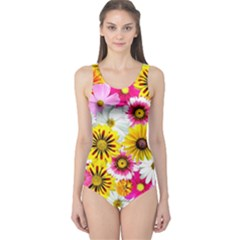 Flowers Blossom Bloom Nature Plant One Piece Swimsuit