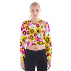 Flowers Blossom Bloom Nature Plant Women s Cropped Sweatshirt