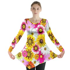 Flowers Blossom Bloom Nature Plant Long Sleeve Tunic