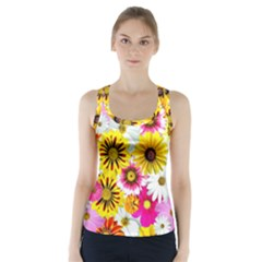 Flowers Blossom Bloom Nature Plant Racer Back Sports Top