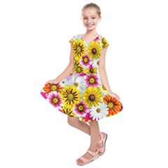 Flowers Blossom Bloom Nature Plant Kids  Short Sleeve Dress