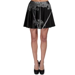 Dog Tube White Night Dark Ice Skater Skirt