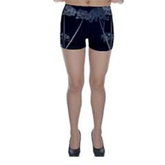 Dog Tube White Night Dark Ice Skinny Shorts