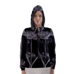 Dog Tube White Night Dark Ice Hooded Wind Breaker (women)