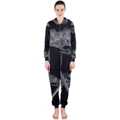 Dog Tube White Night Dark Ice Hooded Jumpsuit (Ladies)