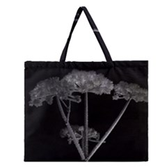 Dog Tube White Night Dark Ice Zipper Large Tote Bag