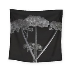 Dog Tube White Night Dark Ice Square Tapestry (small)