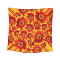 Gerbera Flowers Blossom Bloom Square Tapestry (small)
