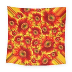 Gerbera Flowers Blossom Bloom Square Tapestry (large)