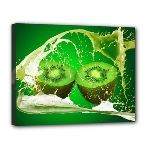 Kiwi Fruit Vitamins Healthy Cut Canvas 14  X 11