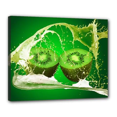 Kiwi Fruit Vitamins Healthy Cut Canvas 20  X 16