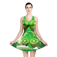 Kiwi Fruit Vitamins Healthy Cut Reversible Skater Dress