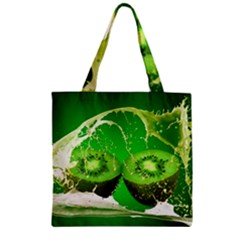 Kiwi Fruit Vitamins Healthy Cut Zipper Grocery Tote Bag