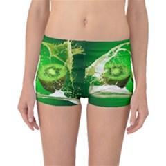 Kiwi Fruit Vitamins Healthy Cut Boyleg Bikini Bottoms