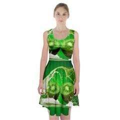 Kiwi Fruit Vitamins Healthy Cut Racerback Midi Dress