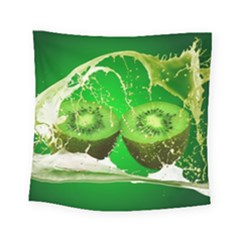 Kiwi Fruit Vitamins Healthy Cut Square Tapestry (small)