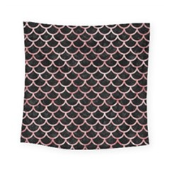 Scales1 Black Marble & Red & White Marble Square Tapestry (small)