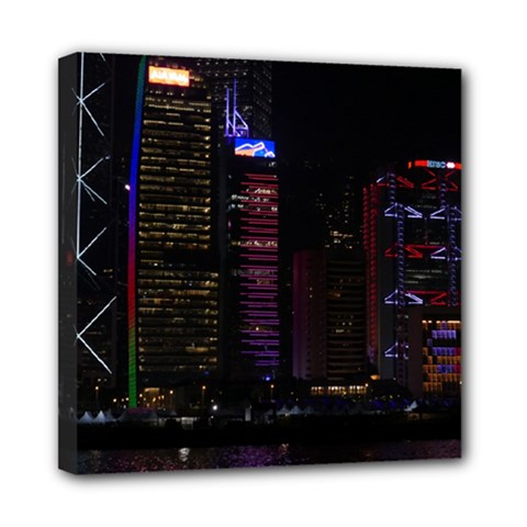 Hong Kong China Asia Skyscraper Mini Canvas 8  X 8
