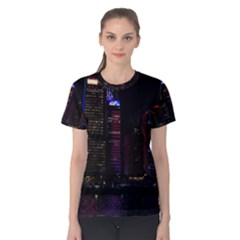Hong Kong China Asia Skyscraper Women s Cotton Tee