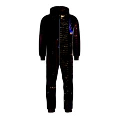 Hong Kong China Asia Skyscraper Hooded Jumpsuit (kids)