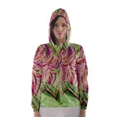 Colorful Design Acrylic Hooded Wind Breaker (women)
