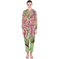Colorful Design Acrylic Hooded Jumpsuit (ladies)