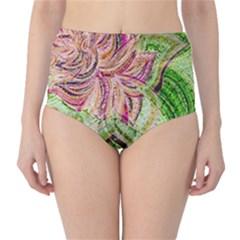 Colorful Design Acrylic High Waist Bikini Bottoms