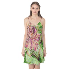 Colorful Design Acrylic Camis Nightgown