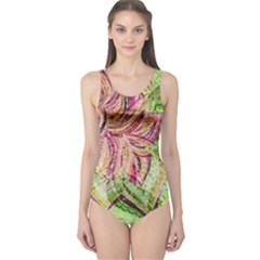Colorful Design Acrylic One Piece Swimsuit