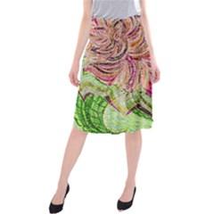 Colorful Design Acrylic Midi Beach Skirt