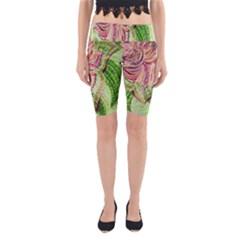 Colorful Design Acrylic Yoga Cropped Leggings