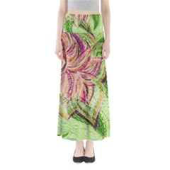 Colorful Design Acrylic Maxi Skirts