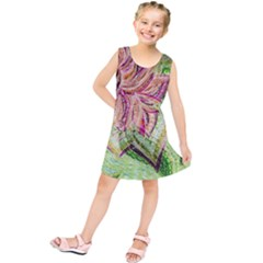 Colorful Design Acrylic Kids  Tunic Dress