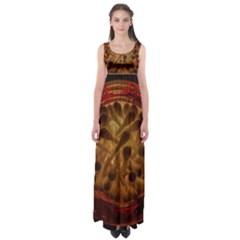 Light Picture Cotton Buds Empire Waist Maxi Dress